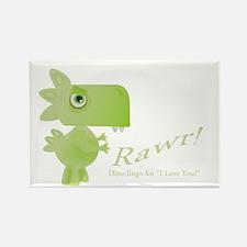 Rawr Dino Love Rectangle Magnet