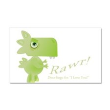 Rawr Dino Love Car Magnet 20 x 12