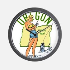 Oregon Pinup Wall Clock