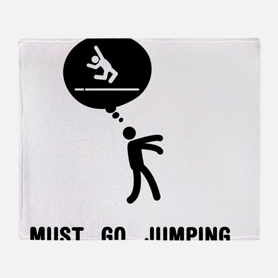 Long Jump Throw Blanket