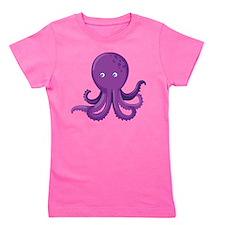 Purple Octopus Girl's Tee