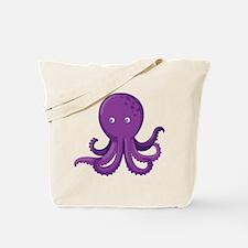 Purple Octopus Tote Bag