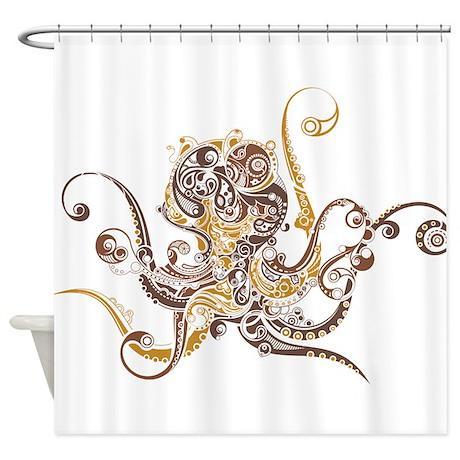 Fancy Octopus Shower Curtain By UnderTheSea2