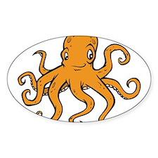 Orange Octopus Decal