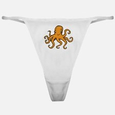 Orange Octopus Classic Thong