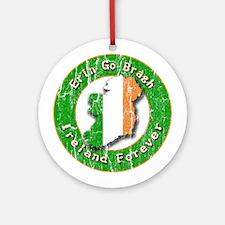 Erin Go Bragh Retro Irish Ornament (Round)