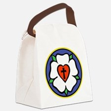 Luther Rose Canvas Lunch Bag