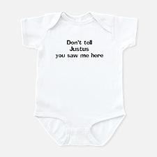Don't tell Justus Infant Bodysuit
