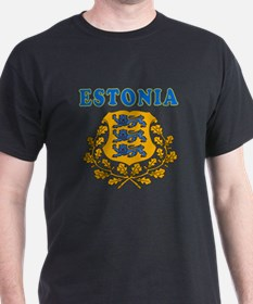 Estonia Coat Of Arms Designs T-Shirt