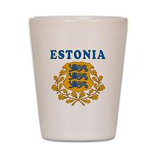 Estonia Coat Of Arms Designs Shot Glass