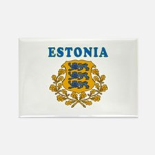 Estonia Coat Of Arms Designs Rectangle Magnet