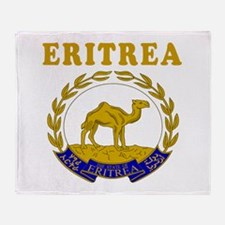 Eritrea Coat Of Arms Designs Throw Blanket