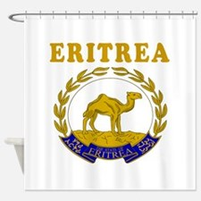 Eritrea Coat Of Arms Designs Shower Curtain
