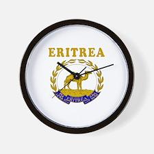 Eritrea Coat Of Arms Designs Wall Clock