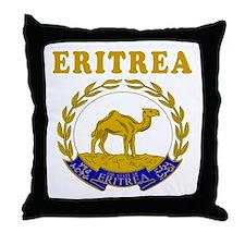 Eritrea Coat Of Arms Designs Throw Pillow