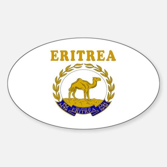 Eritrea Coat Of Arms Designs Sticker (Oval)