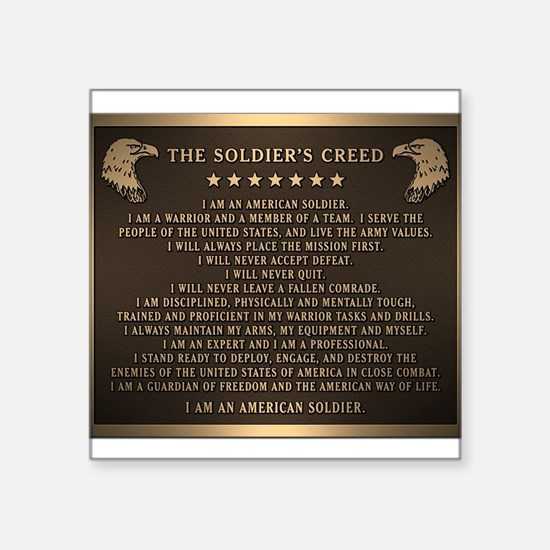 Soldiers creed Sticker