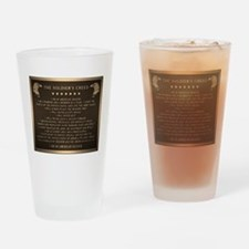 Soldiers creed Drinking Glass