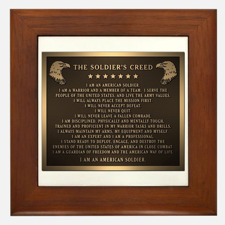 Soldiers creed Framed Tile