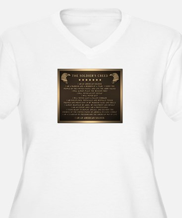Soldiers creed Plus Size T-Shirt