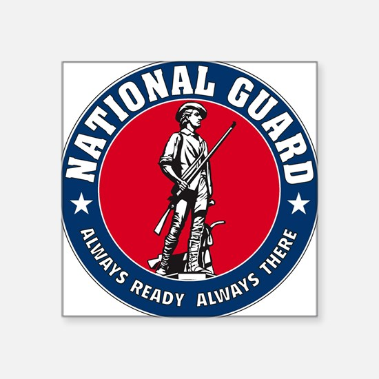 National Guard Logo Rectangle Sticker