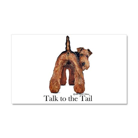 Welsh Terrier Talk Car Magnet 20 x 12