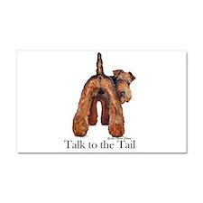 Welsh Terrier Talk Car Magnet 20 x 12