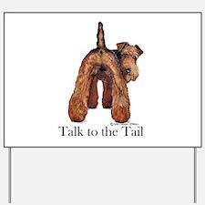 Welsh Terrier Talk Yard Sign