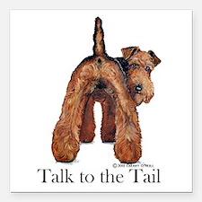 "Welsh Terrier Talk Square Car Magnet 3"" x 3"""