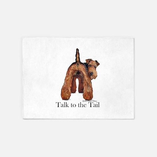 Welsh Terrier Talk 5'x7'Area Rug