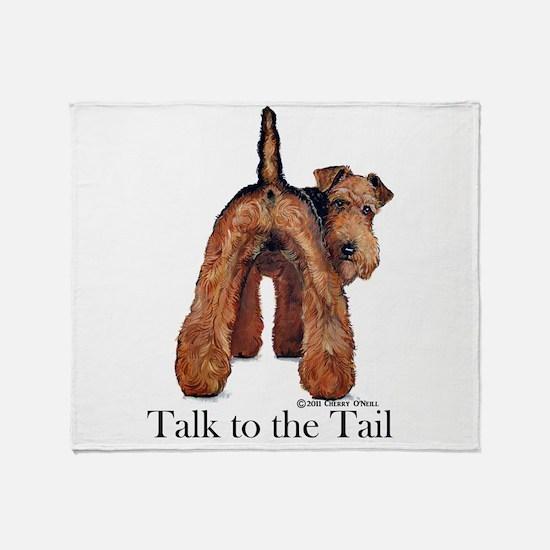 Welsh Terrier Talk Throw Blanket
