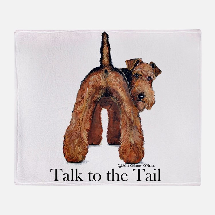 Welsh Terrier Talk Throw Blanket