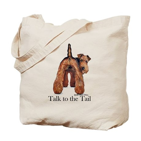 Welsh Terrier Talk Tote Bag