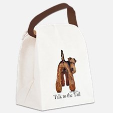 Welsh Terrier Talk Canvas Lunch Bag