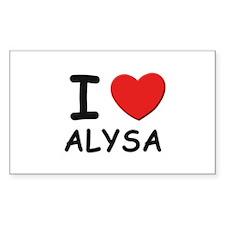I love Alysa Rectangle Decal