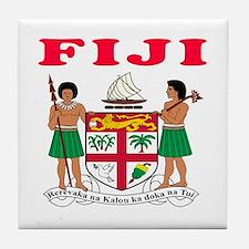 Fiji Coat Of Arms Designs Tile Coaster