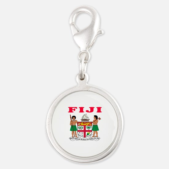 Fiji Coat Of Arms Designs Silver Round Charm