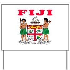Fiji Coat Of Arms Designs Yard Sign