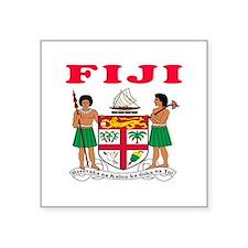 "Fiji Coat Of Arms Designs Square Sticker 3"" x 3"""