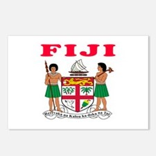 Fiji Coat Of Arms Designs Postcards (Package of 8)