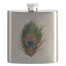 peacock feather Flask