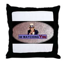 Uncle Sam Is Watching Throw Pillow