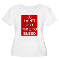 Time To Bleed Plus Size T-Shirt