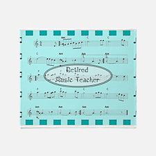 retired music teacher 2 Throw Blanket