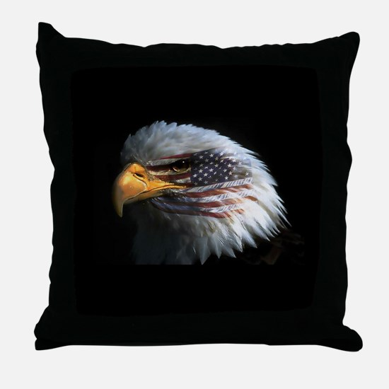 eagle3d.png Throw Pillow