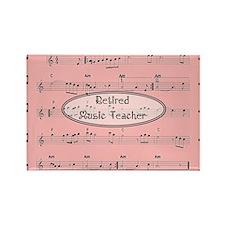 retired music teacher 1 Rectangle Magnet