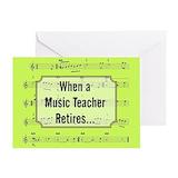 Music teacher retirement Greeting Cards