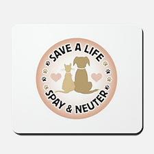 Save A Life Spay & Neuter Mousepad