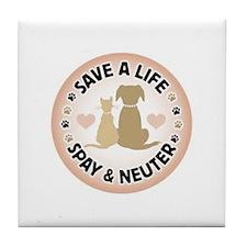 Save A Life Spay & Neuter Tile Coaster