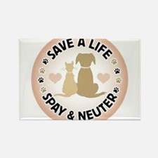 Save A Life Spay & Neuter Rectangle Magnet